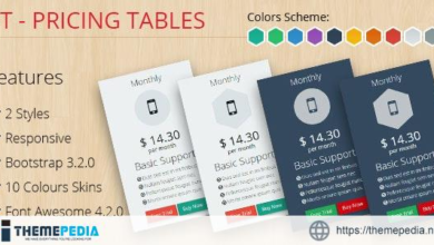 PT – Pricing Tables Bootstrap 3.2.0 – [100% Nulled Script]