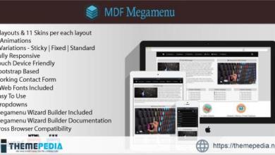 MDF Megamenu – Bootstrap Responsive Megamenu – [Free Download]