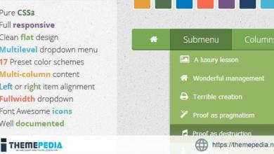Wonderful CSS3 Responsive Flat Menu – [Free Download]