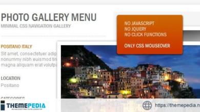 CSS Photo Gallery Menu – [Free Codecanyon Script download]