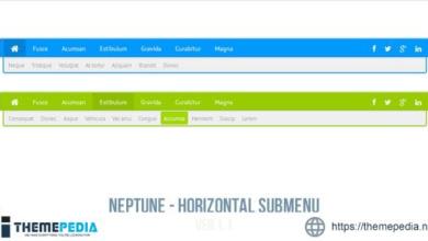 Neptune – Horizontal Submenu – [Download Torrent]