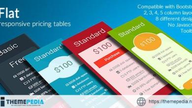 Flat – Responsive Pricing Tables – [Free Download]