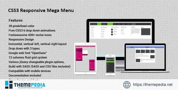 CSS3 Responsive Mega Drop Down Menu – [Download Torrent]